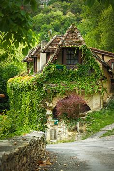 House in Rocamadour, Dordogne, France.  This could be the Gingerbread House!