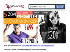 Buy fashio items and latest dresses , sandals , sun gasses .Get coupons for special discount from Zovi Discount Coupons in India for online shopping at special sales offers  Zovi discount coupons available at http://www.couponskart.net/zovi-coupons
