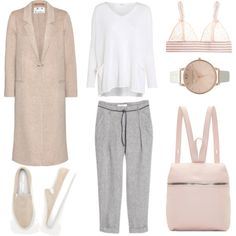 Pink Accents by fashionlandscape on Polyvore featuring Mode, Crea Concept, Acne Studios, STELLA McCARTNEY, Common Projects, Kara, Topshop and MANGO
