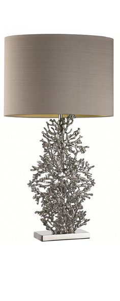 Silver Cast Coral Lamp, at InStyle Decor Beverly Hills Hollywood Luxury Home Decor, Table Lamp Design, Silver Lamp, Table Lamp, Instyle Decor, Coral Lamp, Table Top Lamps, Floor Lamp Design, Contemporary Table Lamps