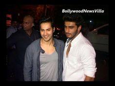 Varun Dhawan at Arjun Kapoor's birthday party.
