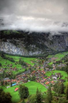 In Lauterbrunnen, Switzerland.