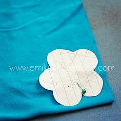 great flowers out of tshirts tutorial!