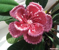 ergahandmade: Tunisian Crochet Flowers + Diagrams + Step By Step...