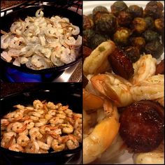 Shrimp & Sausage with Brussels Sprouts for the Leftovers Win!  Thank you Melissa McAllister!