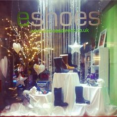 Winter Wonderland Shop Display! #eshoes #shop #display #vm #merchandising #shoes #winter #window #style #design www.eshoesdirect.co.uk