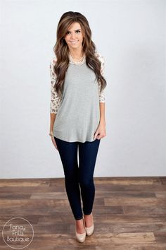 Floral Baseball Tee! | Jane Summer Outfits, Cute Outfits, Floral Sleeve, Baseball Shirts, Casual Looks, Women's Clothing, Passion, Rock, Woman