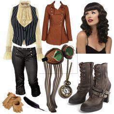 steam punk - İnteresting Hair İdeas Here Steampunk Costume, Steampunk Clothing, Steampunk Fashion, Victorian Fashion, Casual Steampunk, Everyday Steampunk, Punk Outfits, Casual Outfits, Diesel