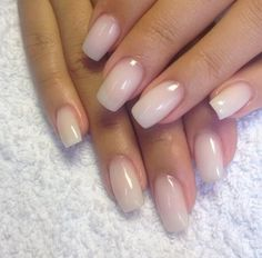 milky white nails. Love the color but the shape is gross!
