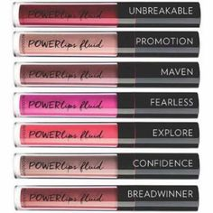 7 of the 12 Powerlips Fluid liquid lipstick shades!! Available only on Cyber Monday and then the full launch is January 6th!! Message me for details on how to purchase! _allthatshines_ #glutenfreemakeup #longlastinglipstick #bestliquidlipstick #powerlipsfluid #allthatshinesjen Lipstick Shades, Lipstick Colors, Best Liquid Lipstick, Gluten Free Makeup, Long Lasting Lipstick, Anti Aging Skin Care, Skin Products, Beauty Products, Girly Things