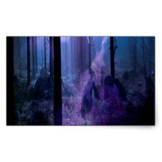 Mystic Night Rectangular Sticker