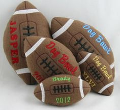 Personalized Football Toy for Dogs    Just ordered one for Dakota