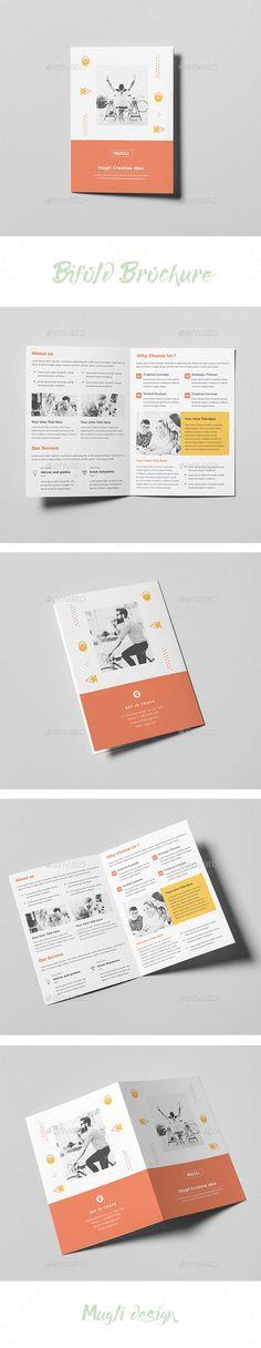 #Bifold Brochure - #Corporate #Brochures Download here:  https://graphicriver.net/item/bifold-brochure/20442285?ref=alena994