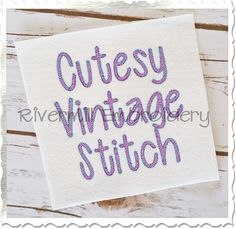 """$1.951 1/2"""" Inch Size ONLY Vintage Style Cutesy Machine Embroidery Font"""