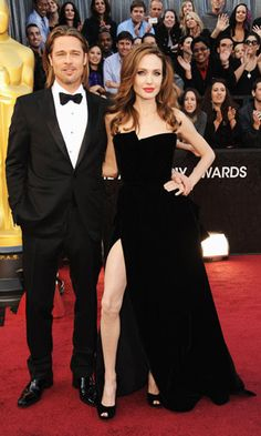 Brad Pitt & Angelina Jolie  #oscars