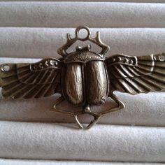 scarab beetle bronze  brooch  pin