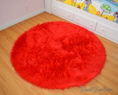 shag rug on Etsy, a global handmade and vintage marketplace. Small Area Rugs, Round Area Rugs, Kids Play Area, Children Play, Fur Carpet, Oval Rugs, Nursery Rugs, Faux Fur Throw, Vintage Marketplace