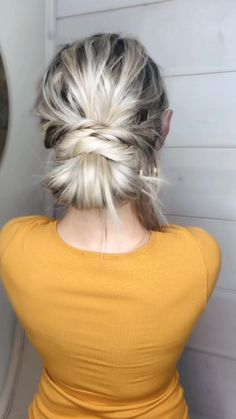 Wedding Guest Hairstyles, Bun Hairstyles For Long Hair, Work Hairstyles, Athletic Hairstyles, Hair Wedding, Formal Hairstyles, Bridal Hair, Braided Hairstyles, Hairstyles Videos