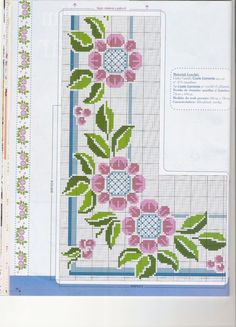 "Photo from album ""Punto Cruz"" on Yandex. Cross Stitch Borders, Cross Stitch Flowers, Cross Stitch Designs, Cross Stitching, Cross Stitch Embroidery, Embroidery Patterns, Cross Stitch Patterns, Cross Stitch Pictures, English Paper Piecing"