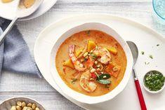Thai Shrimp Pumpkin Soup by Campbells Supper Recipes, Soup Recipes, Supper Meals, Cooking Recipes, Thai Shrimp, Thai Chicken, Asian Recipes, Asian Foods, Ethnic Recipes