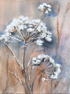 Zimowy ogród - baldachy - Maria Roszkowska WATERCOLOR