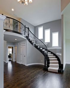 Plainfield Homes- Kings Court Builders! Staircase in the Coventry. Love. Love. Love everything about this house! Well, ALL their houses :)