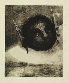 Gnome, 1879, Odilon Redon Size: 27.2x22 cm Medium: lithography on paper