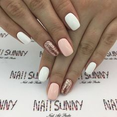 30 trendy glitter nail art design ideas for With glitter nails, brighten up your summer looks. trendy glitter nail art design ideas for With glitter nails, brighten up your summer looks. Glittery Nails, Sparkle Nails, Cute Acrylic Nails, Glitter Nail Art, Gold Glitter, White Gel Nails, White Nails With Glitter, Pink Gold Nails, Glitter Flats