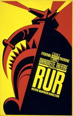 WPA, Federal Work Theatre poster: R.U.R.