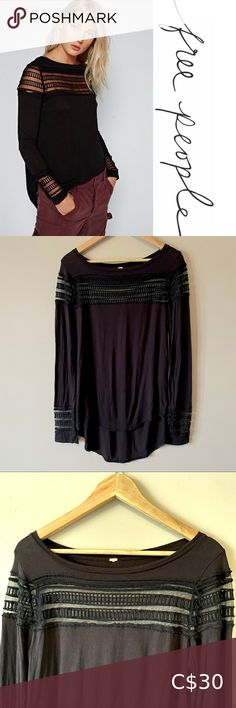 I just added this listing on Poshmark: Free People black long sleeve with mesh details. #shopmycloset #poshmark #fashion #shopping #style #forsale #Free People #Tops