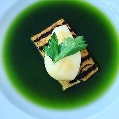 Tofu mit Birne und Korianderwasser