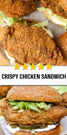 Crispy Chicken Sandwich Crispy Chicken Sandwich,Chicken Recipes This crispy chicken sandwich is made with brined chicken tossed in an Argo cornstarch coating and fried until crispy. Serve on a toasted bun with pickles! Gourmet Sandwiches, Sandwich Bar, Party Sandwiches, Healthy Sandwiches, Chicken Sandwich Recipes, Yummy Chicken Recipes, Yum Yum Chicken, Easy Healthy Recipes, Fried Chicken Sandwich