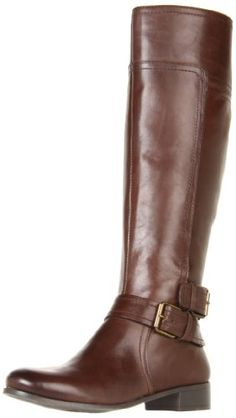 "Nine West Women's Shiza Knee-High Boot -  With a polished round toe and wrap around buckled ankle strap, the Shiza tall boots by Nine West will become an instant favorite the minute cool weather approaches. Shaft opening measures approximately 15"".Sally forth in Nine West's Shiza knee-high boot. This equestrian-reminiscent find boasts ... #Shoes"