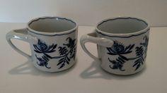 Set of 2~ Blue Danube Mugs~ Tripod handle~ Rectangle Mark Japan | Pottery & Glass, Pottery & China, China & Dinnerware | eBay!