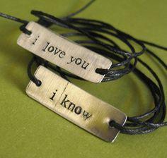 Star Wars Bracelets Han Solo & Princess Leia: I love you, I know -