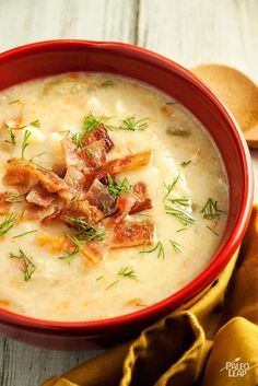 A hearty, vegetable-heavy chowder to curl up on the couch with when you need some comfort food.