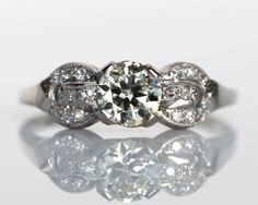 Circa 1920s Art Deco Platinum GIA Certified by VermaEstateJewels