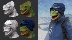 ArtStation - Snowborder Chameleon, Marci Fabian