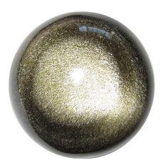 Lovely Obsidian Ball Gold Double Golden Eye Sphere Protective Healing Stone Gemstone
