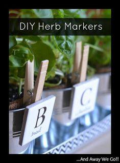 DIY Herb Markers                                                       …