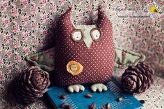 owl by Dasha Kudryavtseva Cute Owl, Felicia, Owls, Crocheting, Craft Ideas, Christmas Ornaments, Sewing, Holiday Decor, Happy