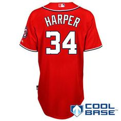 Bryce Harper Red Mens Cool Base Stitched Baseball Jersey