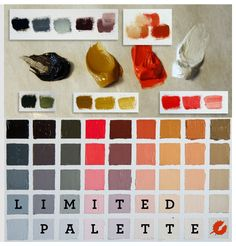 7 Benefits of Painting with a Limited Palette.                                                                                          1. A greater balance through your painting.                                                                                  2. Easy colour harmonies.                                                                  3. Less chance for over mixing.                                             4. Faster way to paint…