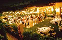 Backyard wedding reception... So lovely...