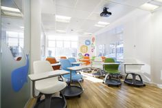 Popular social commerce site LivingSocial recently upgraded their London office space with the help of The Interiors Group. Located in the West End, the office acts as the company's UK headquarters. Fun Office Design, Workspace Design, Cool Office, Interior Work, Office Interior Design, Office Interiors, Visual Merchandising, Design Furniture, Commercial Design