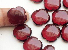 WHOLESALE 10 Pcs Red Hydro Quartz Fancy Floral by gemsforjewels