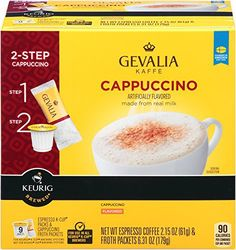 gevalia cappuccino kcup packs and froth packets 9count http - K Cups Bulk