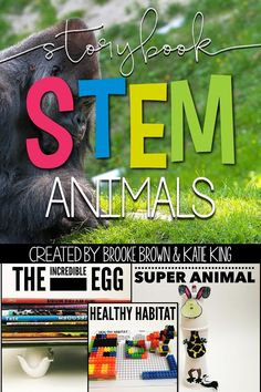 Animals STEM Challenges, Language Arts Components, and Science Activities to match favorite picture books | Elementary STEM Activities