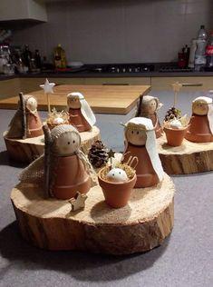 Krippe aus Tontöpfen - zu niedlich! | Christmas ♥ | Pinterest | Christmas, Christmas crafts and Christmas decorations