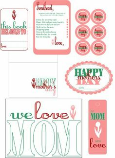 Printables (Bookmarks, coloring page, cards, cupcake toppers, bookplate, flower tag, cheat sheet)